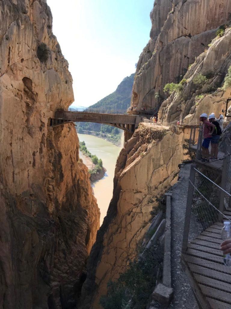Dit is de brug van de Caminito del Rey